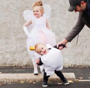 Cute kids dressed as tooth fairy